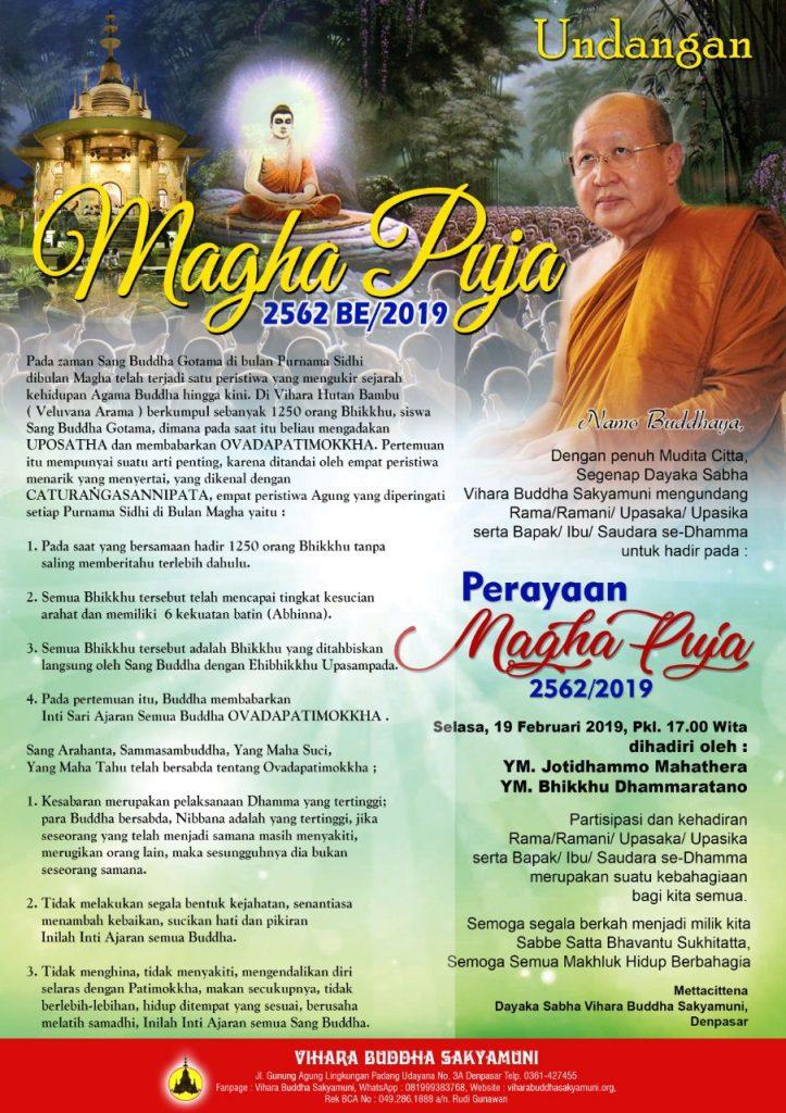 Undangan Magha Puja 2562/2019