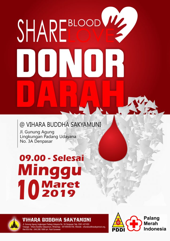 Donor Darah Vihara Buddha Sakyamuni Denpasar